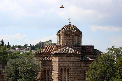 Church, Byzantine, Temple, Dome, Art, Christianity