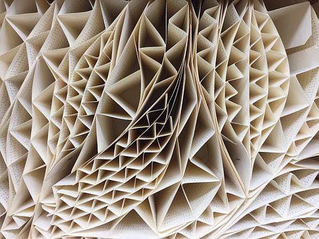 Texture, Art, Paper, Folding, Plizado, White, Design