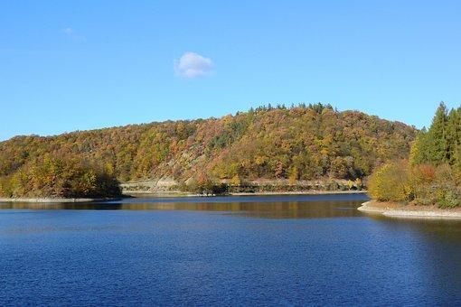 Autumn Landscape, Dam, Lake, Autumn Forest, Forests