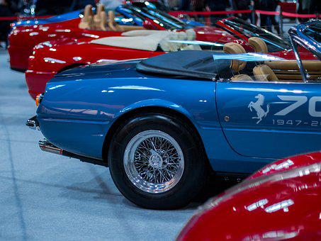 Ferrari Daytona, Wheel, Car, Auto, Transportation