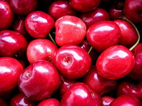 Cherries, Fruits, Red, Macro, Sweet, Food, Fresh