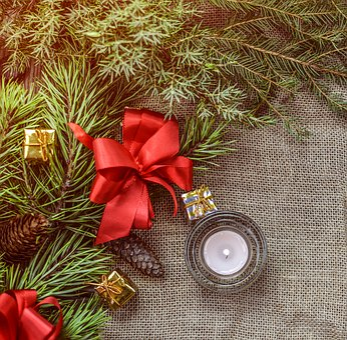Christmas, Decoration, Bow, Christmas Decoration, Red