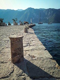 Sea, Bay, Coast, Montenegro, Boka Kotorska, Water