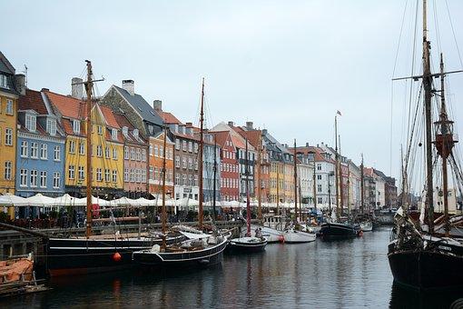 Copenhagen, Boat, Port, Architecture, Nyhavn, Harbor