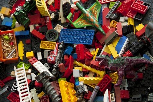 Lego, Blocks, Dinosaur, Plane, Truck, Treasure, Ladder