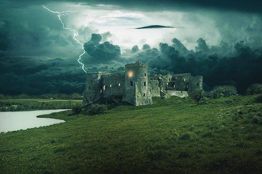 Castle, Fantasy, Dark, Medieval, Gothic, Design, Tower