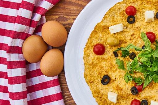 Omelet, Egg, Breakfast, Fresh, Healthy, Food