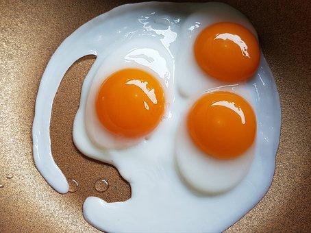 A Fried Egg, Star Egg, Fast Food, Foodstuff, Fat