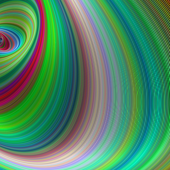 Curved, Abstract, Background, Green, Colorful, Fractal