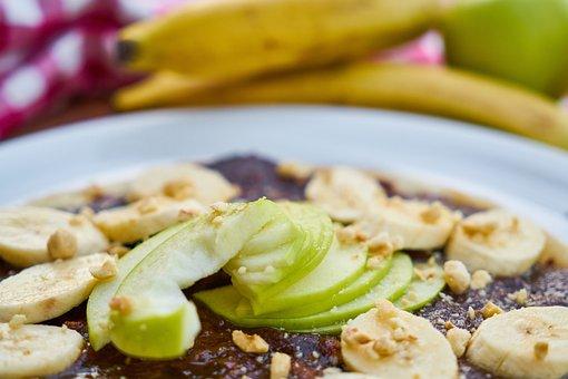 Sweet, Pancakes, Chocolate, Banana, Apple, Fruit, Candy