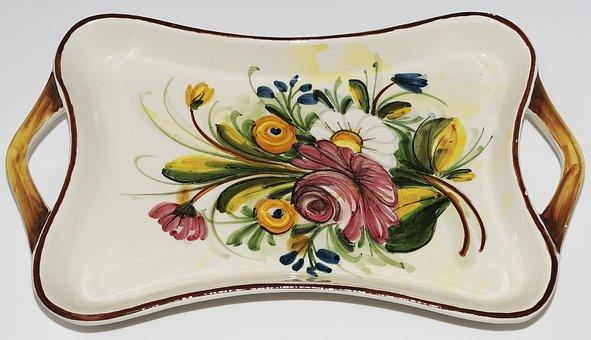 Shell, Handle, Decor, Ceramic, Tableware, Painted