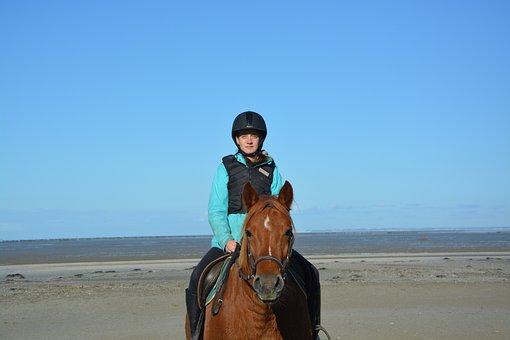 Young Woman Rider, Horse, Horseback Riding, Complicity