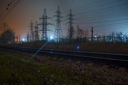 Rails, Railway, Electric Power, Wire, Lap, Power Line