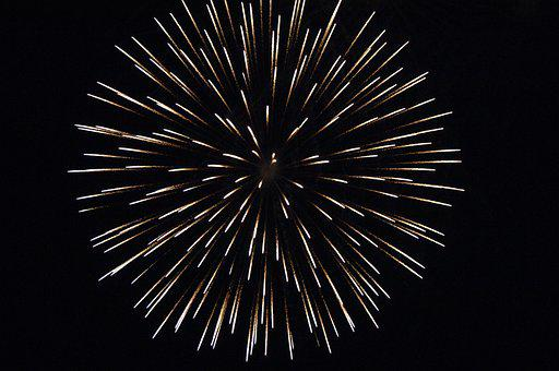 Fireworks, Light, Night, New Year's Eve, New Year's Day