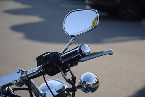 Motorcycle, Bike, Mirror, Transportation, Vehicle