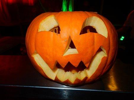 Halloween, Pumpkin, Orange, Face, Decoration