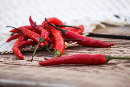 Pepper, Red Pepper, Chile, Red, Fresh, Spices