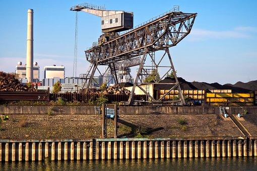 Port, Crane, Dock, Harbour Crane, Envelope