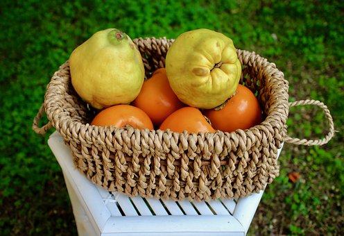 Fruit, Quince, Khaki, Foods, Nature, Yellow, Orange
