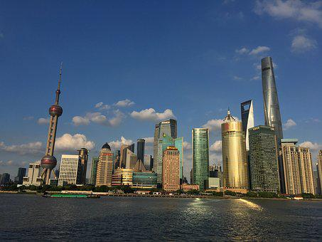 Blue Sky, Shanghai Oriental Pearl, Lu Jia Zui