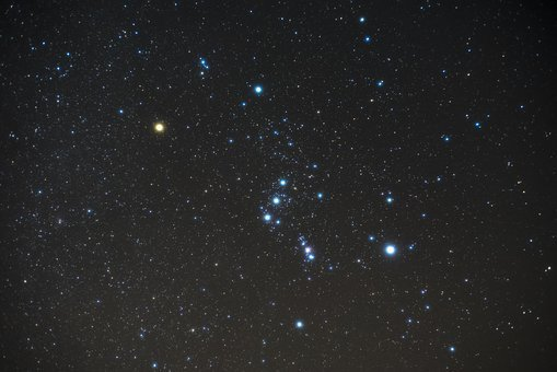Orion, Night, Shy, Star, Constellation