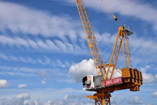 Sky, Tower Cranes, Corporation, Cloud