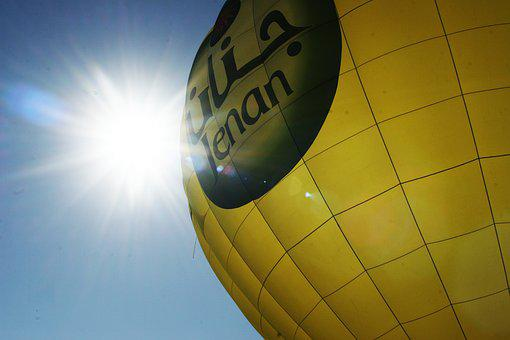 Hot Qi Ball, Sunshine, Blue Day, Hot Air Balloon