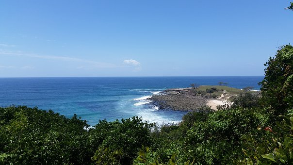 Angourie, Yamba, Australia, Beach, Ocean, Lookout