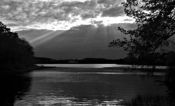 Night, Lake, Water, Evening, Himmel, Cloud, Atmosphere