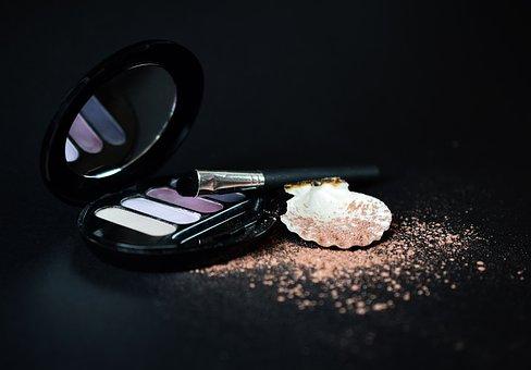 Makeup, Rouge, Powder, Shadows, Beauty, Palette, Mirror