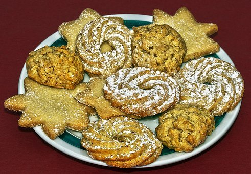 Christmas Biscuits, Cookie, Cookies, Butter Cookies