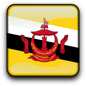 Brunei Darussalam, Flag, Country, Nationality, Square