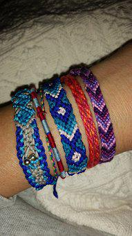 Arm, Art, Craft, Tying, Jewellery, Ribbon, Bracelet