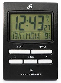 Radio Alarm Clock, Date, Thermometer, Clock