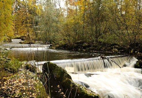 Enonkoski, Finnish, Finland, Flowing Water, Rapids