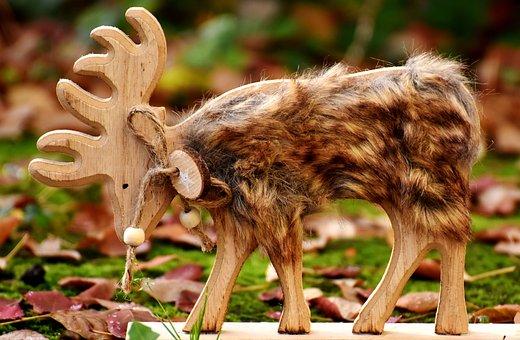 Hirsch, Figure, Deco, Fur, Autumn, Forest, Animal, Wild