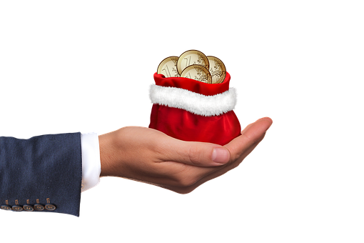 Christmas Money, Money, Gift, Hand, Keep, Give, Euro