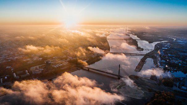 Riga, Latvia, Drone, Helicopter, Air Photo, Aerial