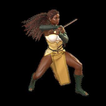 Woman, Sword, Amazone, Heroine, Warrior, Fantasy