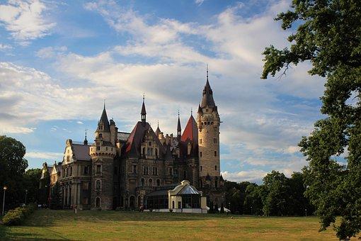 Castle, Poland, Scrotum, Landscape, Fairytale Castle