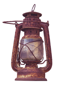 Kerosene Lamp, Lamp, Old, Wire Mesh, Light, Lantern