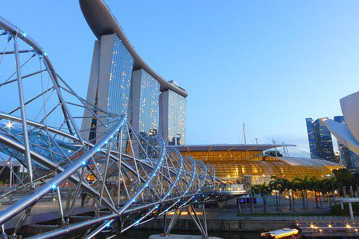 Mbs, Singapore, Blue Hour, Structure