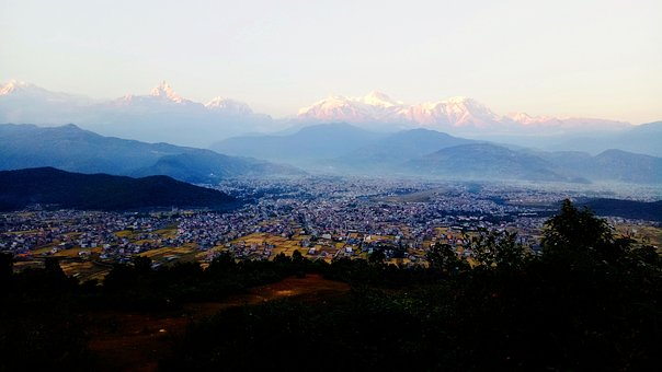 Pokhara, Mountain, Fishtail, Phewa, Asia, Landscape