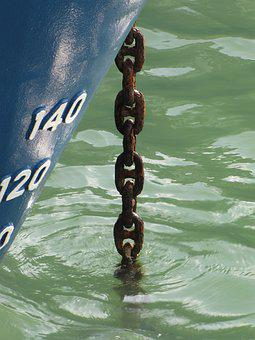 Anchor Chain, Sea, Maritime, Port, Rust, Ship, Boat
