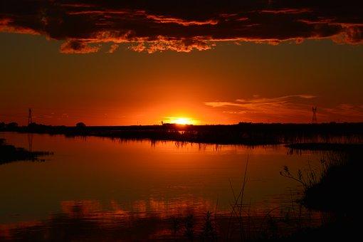 Sunset, Setting Sun, Sun, Nature, Evening Sun
