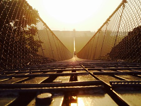 Pokhara, Suspension Bridge, Tourism, Landscape, Nepal