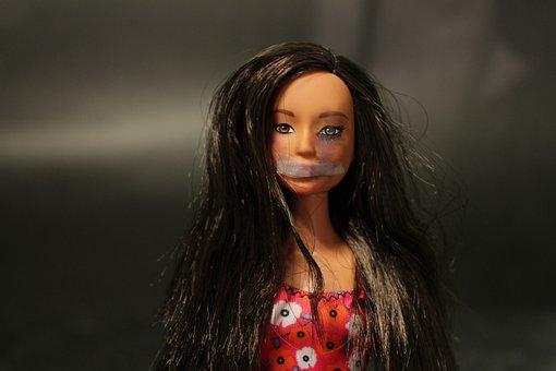 Abuse, Women, Wrist, Violence, Silence, Barbie