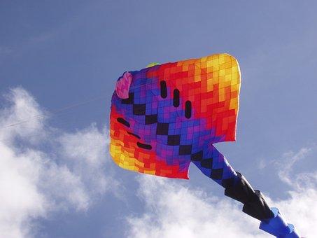 Kite, Sky, Summer, Outdoor, Fly, Blue, Festival, Kiting