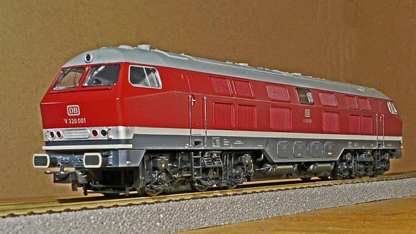 Diesel Locomotive, Model, Scale H0, Br V320
