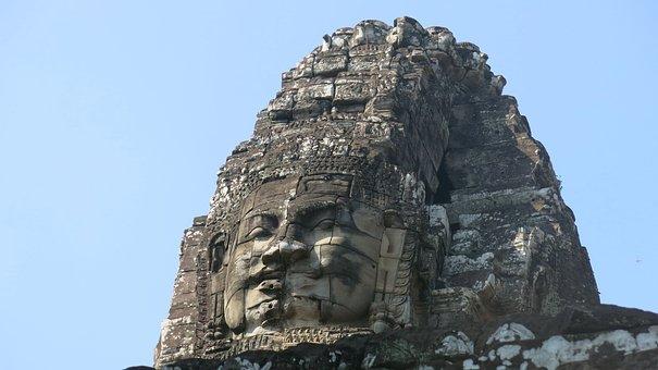 Cambodia, Temple, Banyon, Siem Reap, Angkor